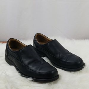 Bass Mens Black Leather Loafer Shoes Sz 9M